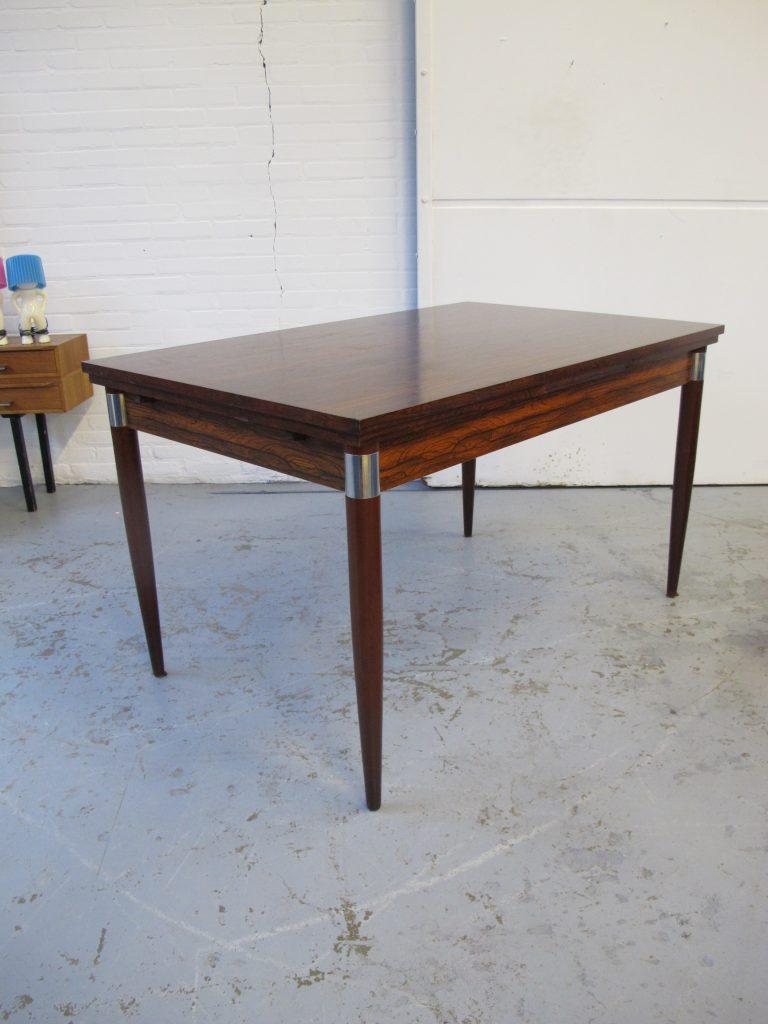 Fristho stijl eethoek tafel jaren 60 in warm palissander