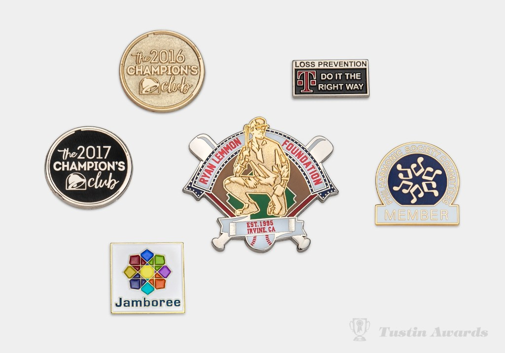 tustin awards assorted lapel pins
