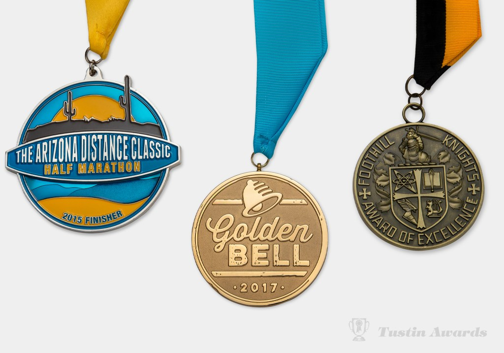 tustin awards custom medallions and ribbon
