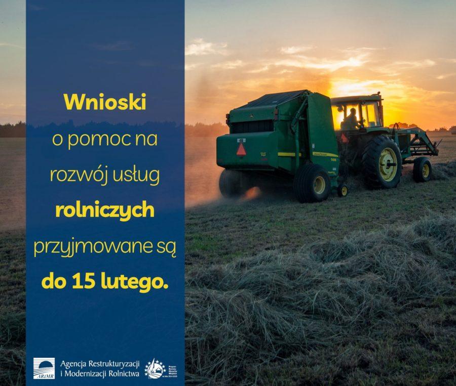 Konczy Sie Nabor Wnioskow O Pomoc Na Rozwoj Uslug Rolniczych 900x763