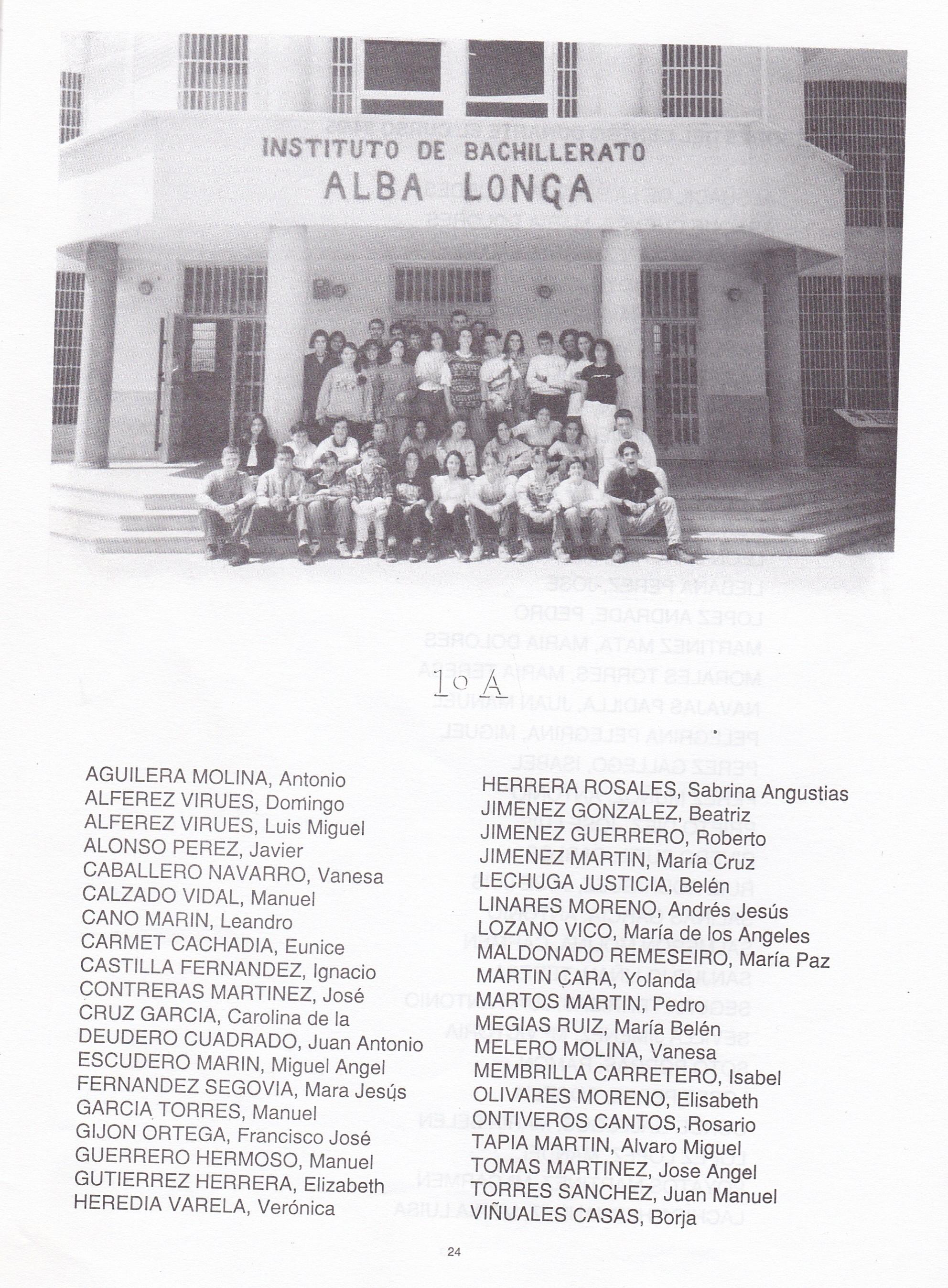 1ºBUP A (curso 1994-1995)