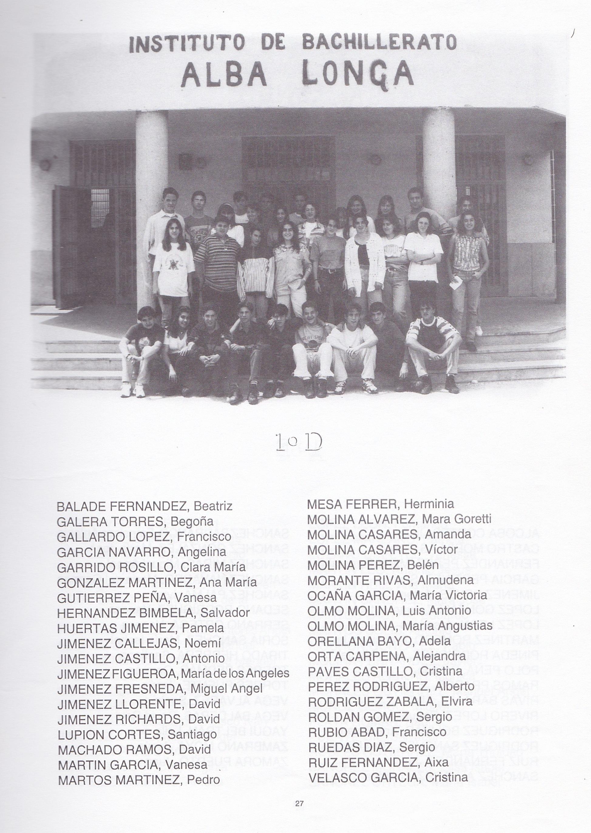 1ºBUP D (curso 1994-1995)
