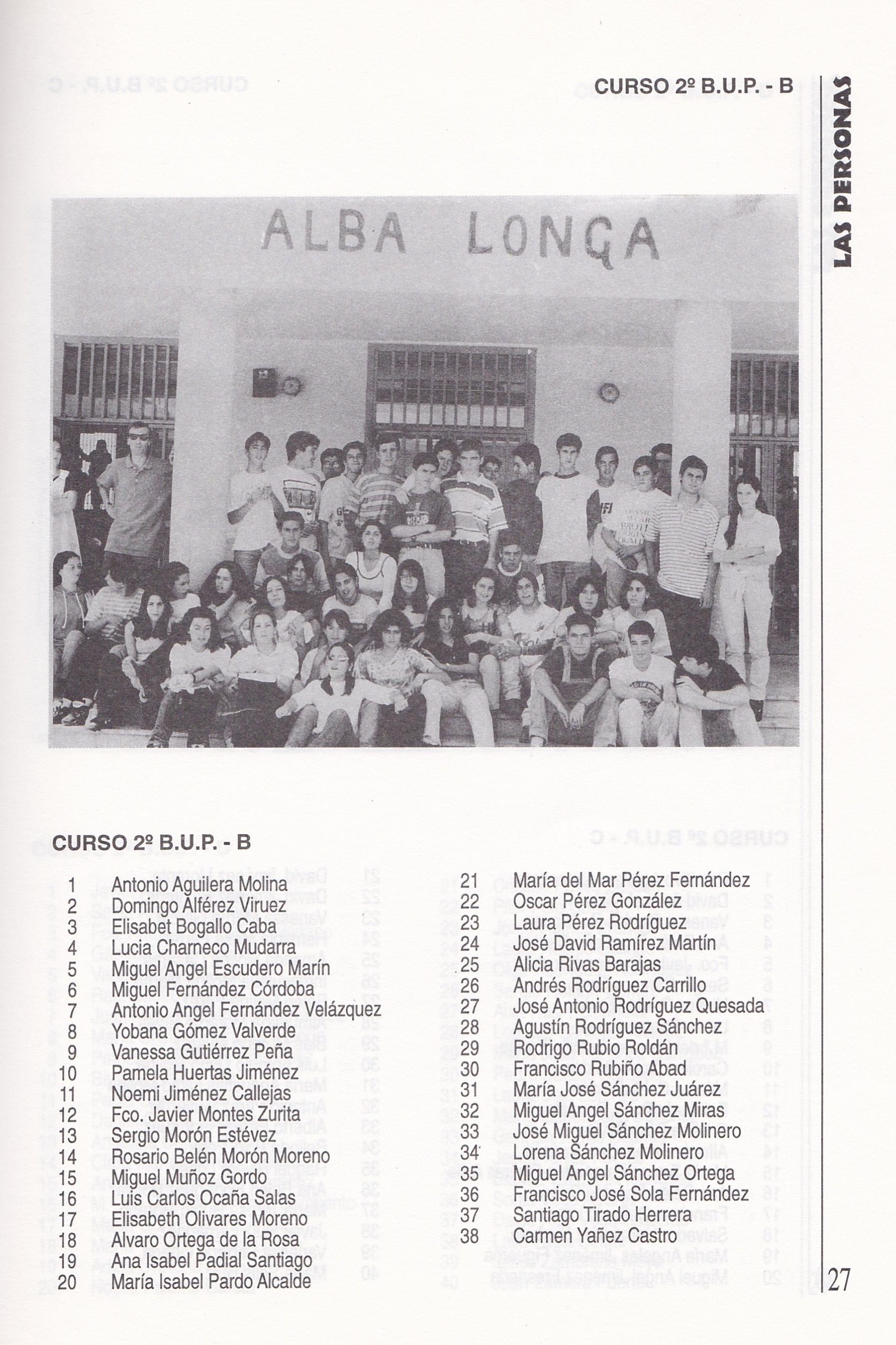 2ºBUP B (curso 1995-1996)