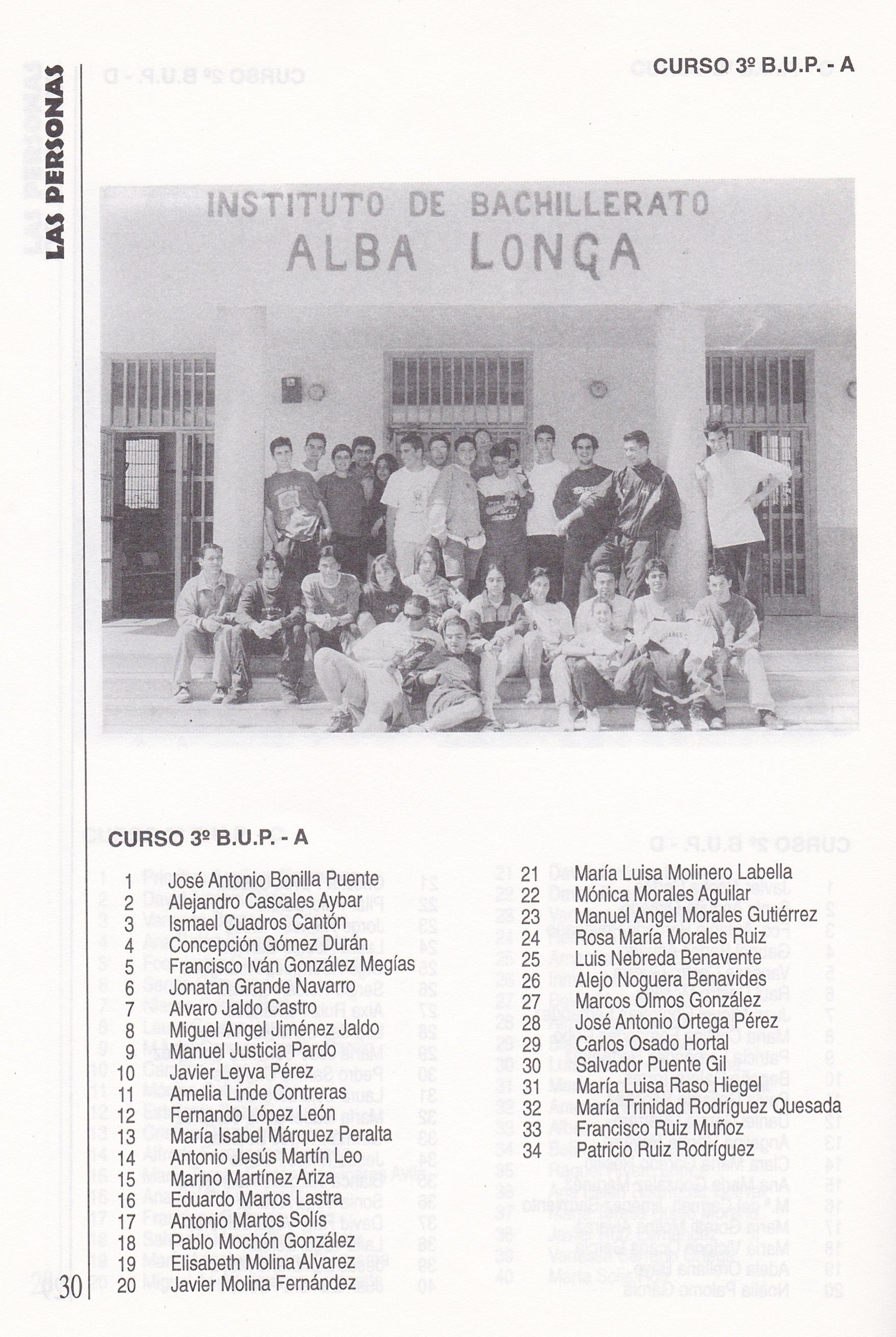 3ºBUP A (curso 1995-1996)