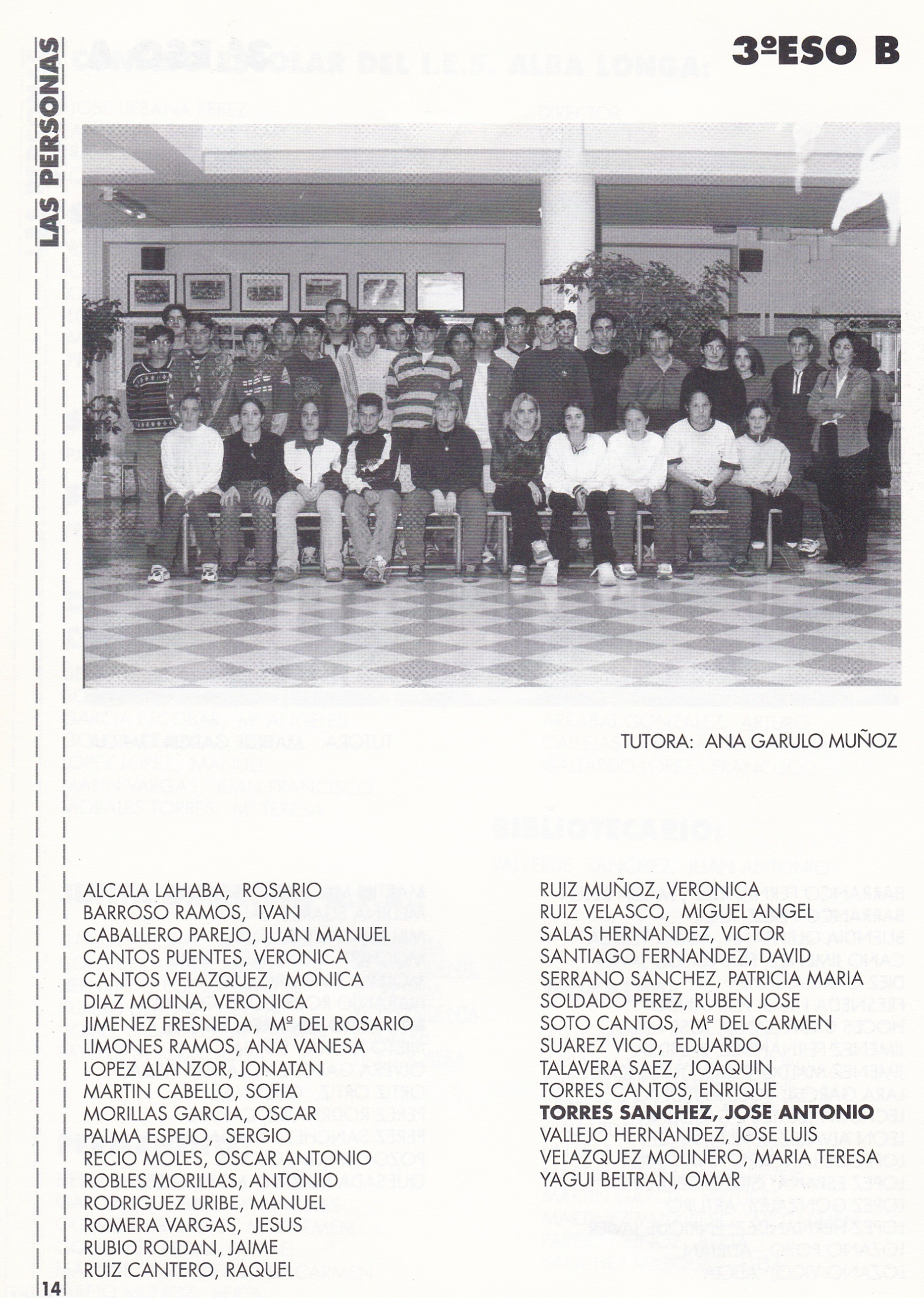 3ESO B (curso 1997-1998)