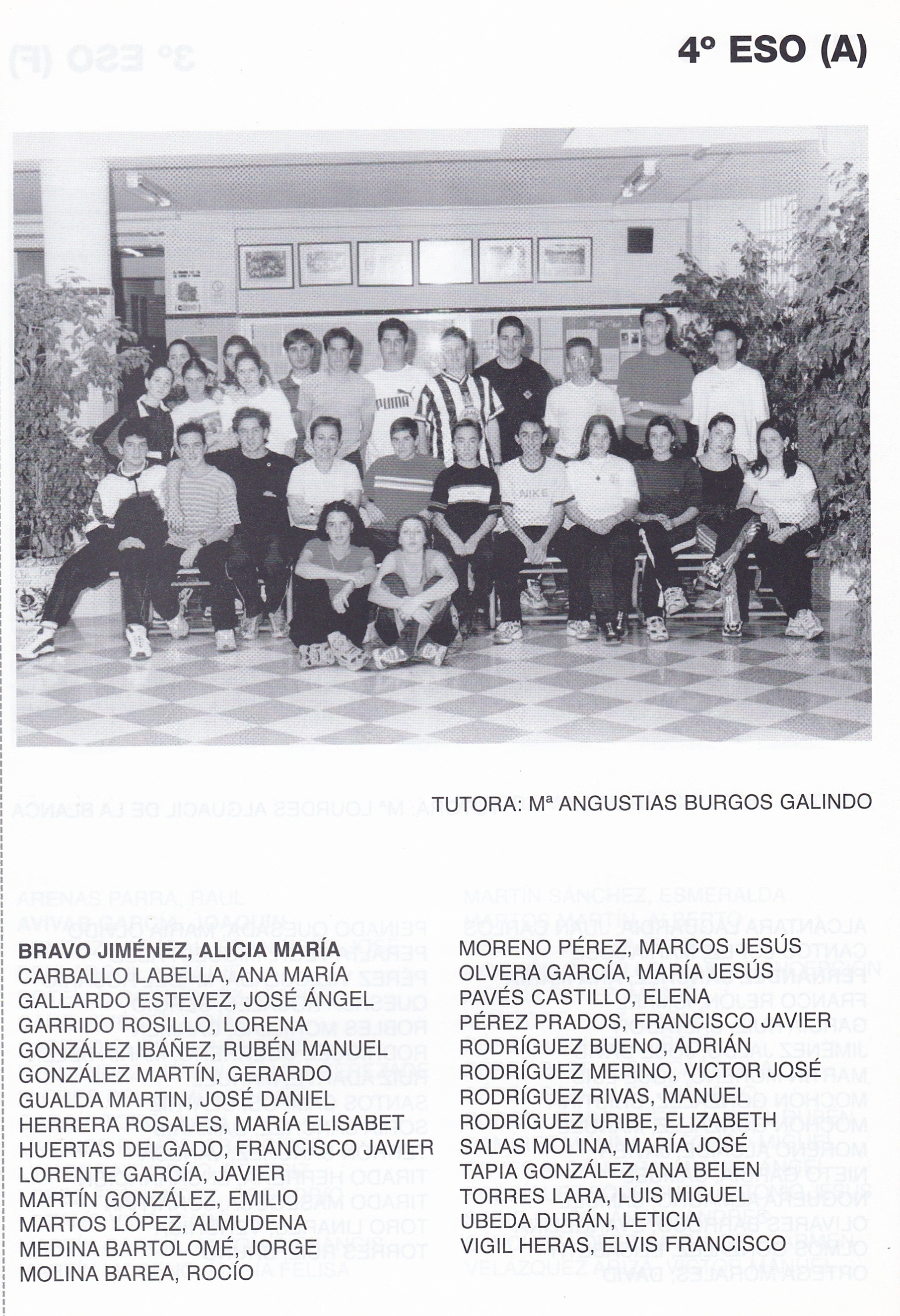 4ESO A (curso 1999-2000)