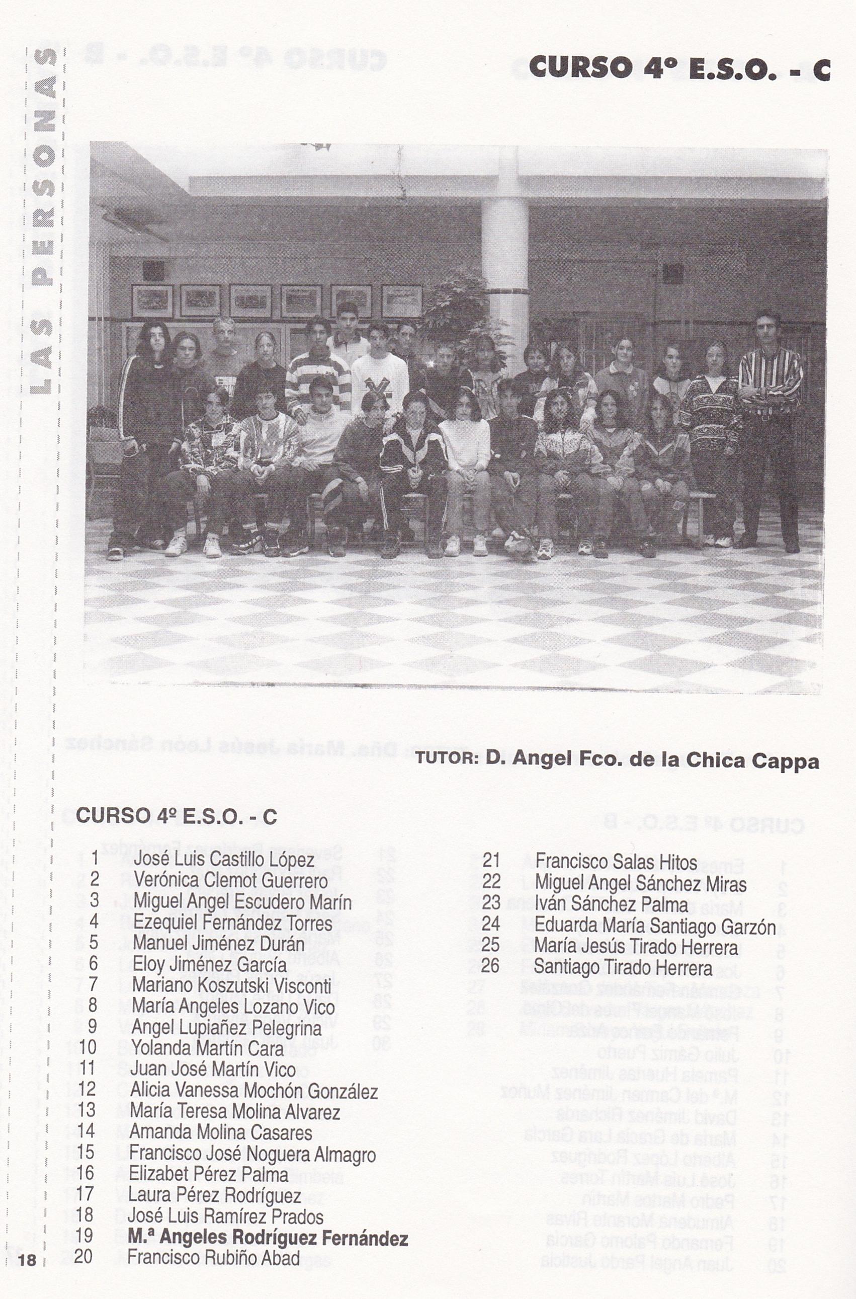 4ºESO C (curso 1996-1997)