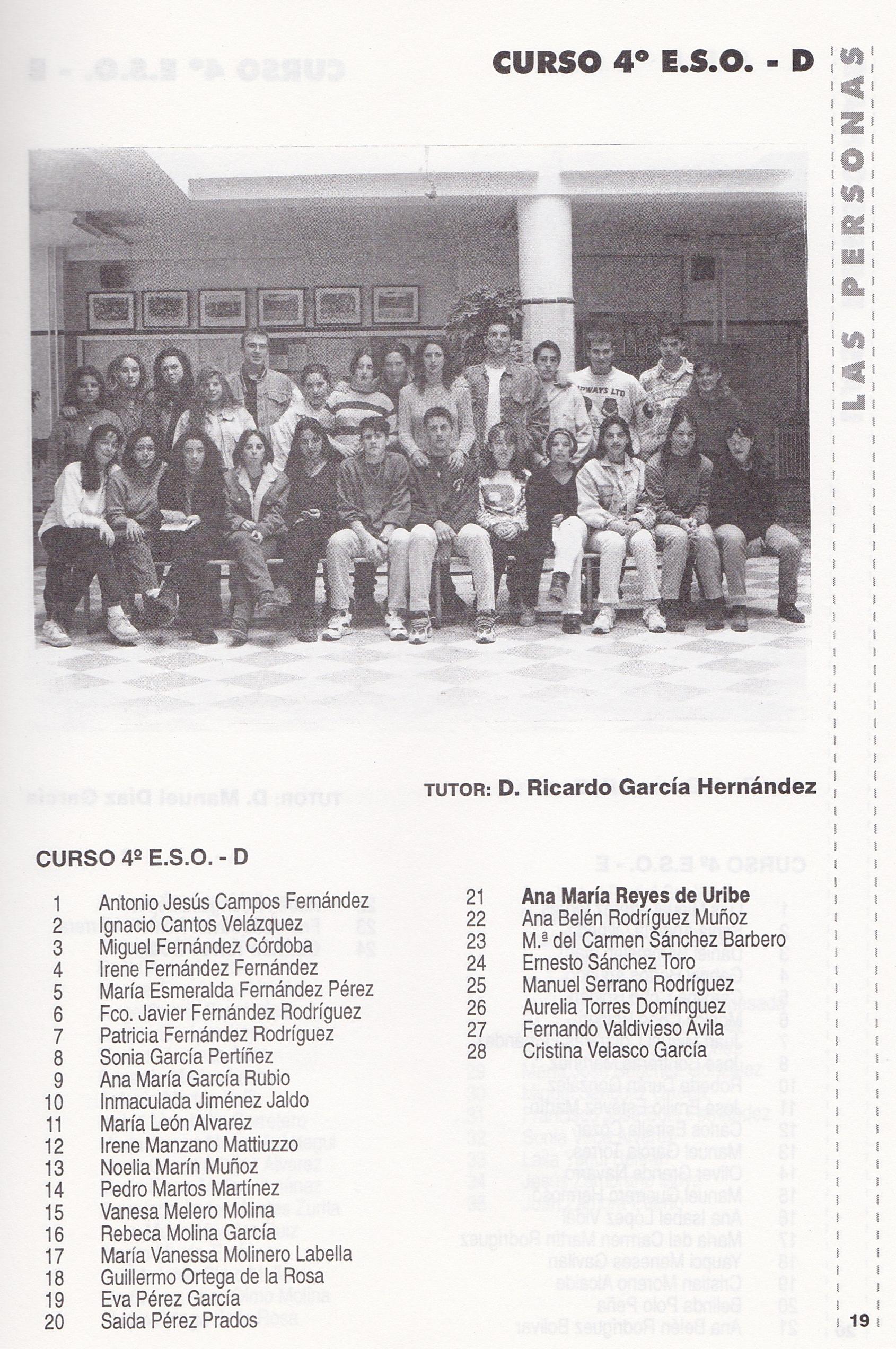 4ºESO D (curso 1996-1997)