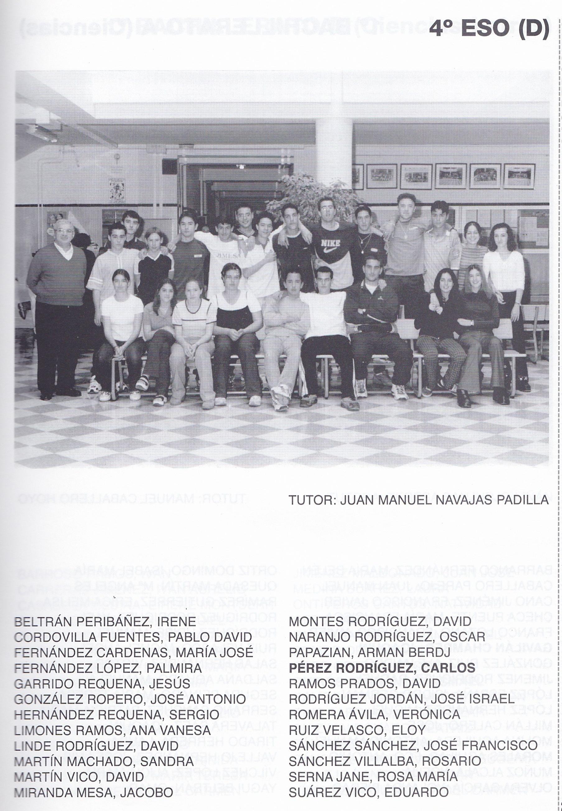 4ESO D (curso 1999-2000)