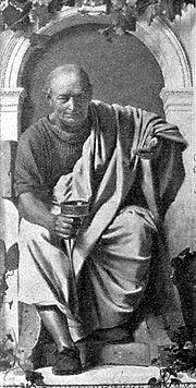 Retrato imaginario de Quinto Horacio Flaco (65 a. C. - 8 d. C.)