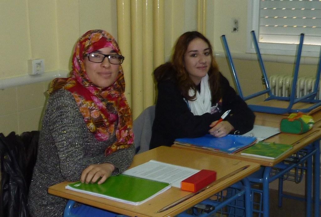 Saida El Hayari y Aurora García.