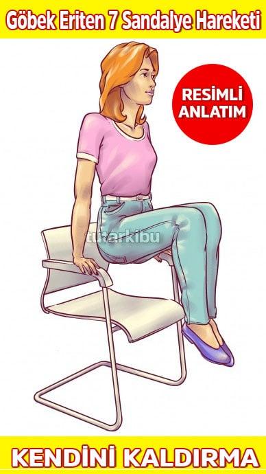 Sandalyede Göbek Eritme Hareketleri 5