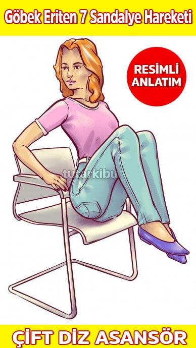 Sandalyede Göbek Eritme Hareketleri 3