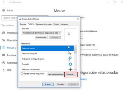 subir cursores para windows 10