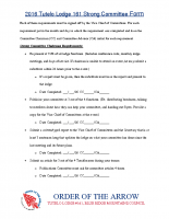 Strong Committee Form 2016