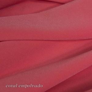 Crep satén licra coral empolvado color 37