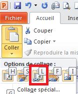 présentation liée liaison powerpoint excel tutoffix option coller collage
