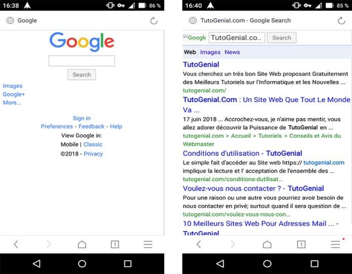 Ouvrez Google.com