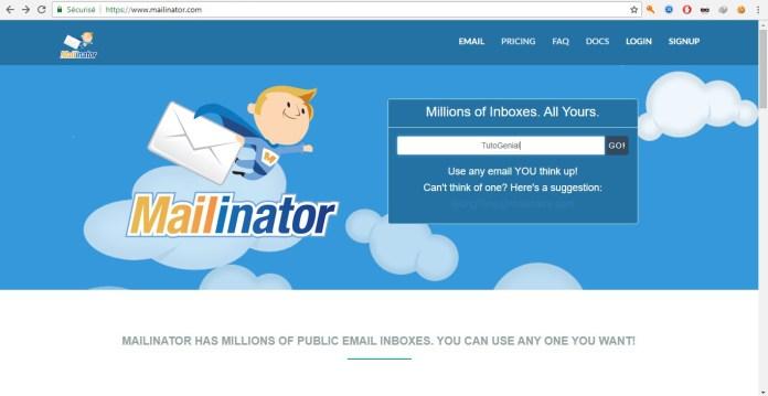 Mailinator - Mail Temporaires