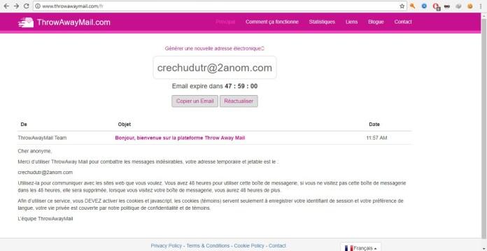 ThrowAwayMail - Mail Temporaires