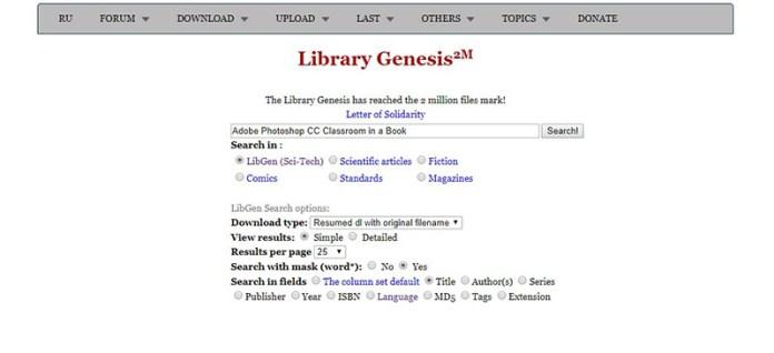 Collez le titre de votre Livre dans Library Genesis