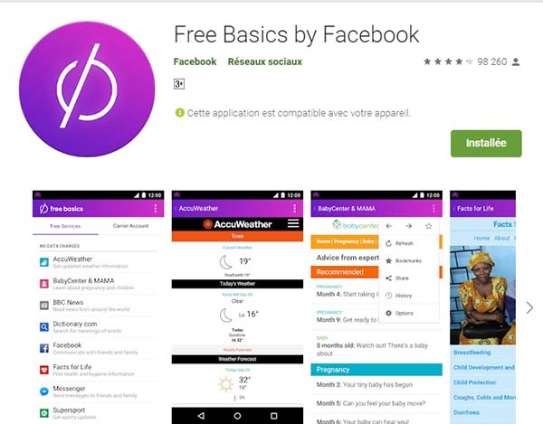 Telecharger Free Basics By Facebook sur Google Play