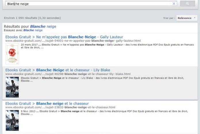 Je recherche le livre de Blanche Neige !