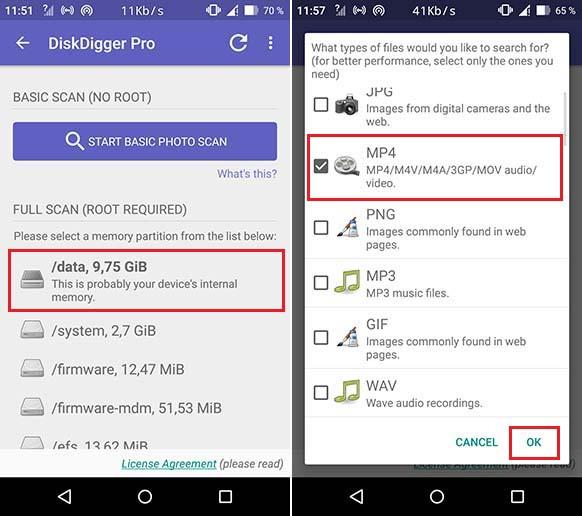 Recuperer les fichiers avec votre smartphone rooté