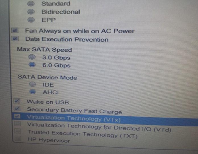 Cochez Virtualization Technology (VT-x)
