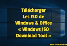 Télécharger les ISO de Windows et Office !