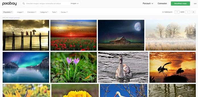 Le site Pixabay !