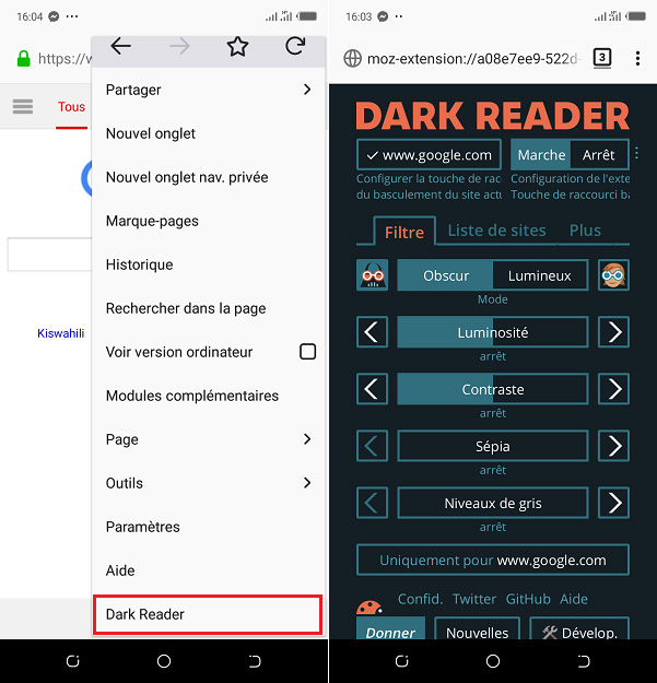 Activer Dark Reader sur Firefox pour Android !