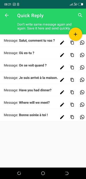 WhatsTools: L'outil Quick Reply !