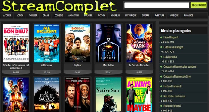 Le site de streaming gratuit StreamComplet !