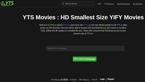 Le site torrent YTS !