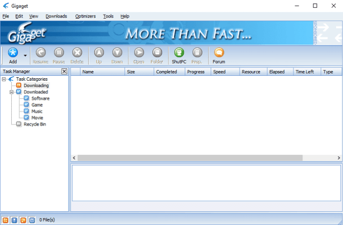 GigaGet Download Manager