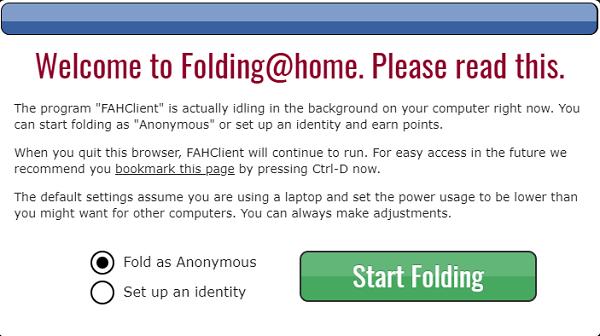 Cpronavirus - Folding@home