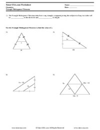 Worksheet: Triangle Midsegment Theorem | Geometry Printable