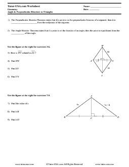 Printables. Angle Bisector Worksheet. Lemonlilyfestival