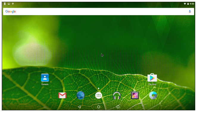 Android x86 Homescreen