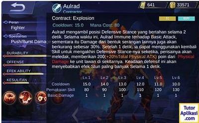 Build Aldous Mobile Legends