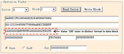 Demonstration on GUI Software of the MiFare Reader/Writer