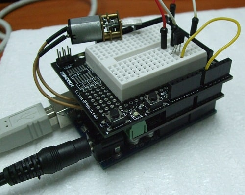 PROJECT 12 - SERIAL COMMUNICATION CONTROL DC MOTOR