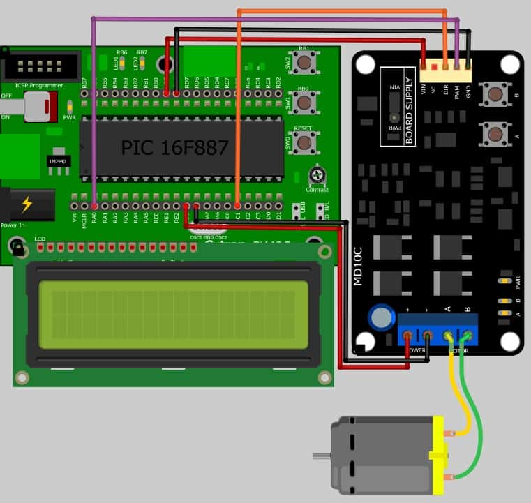 Project 10 – Driving DC brush motor with MD10C