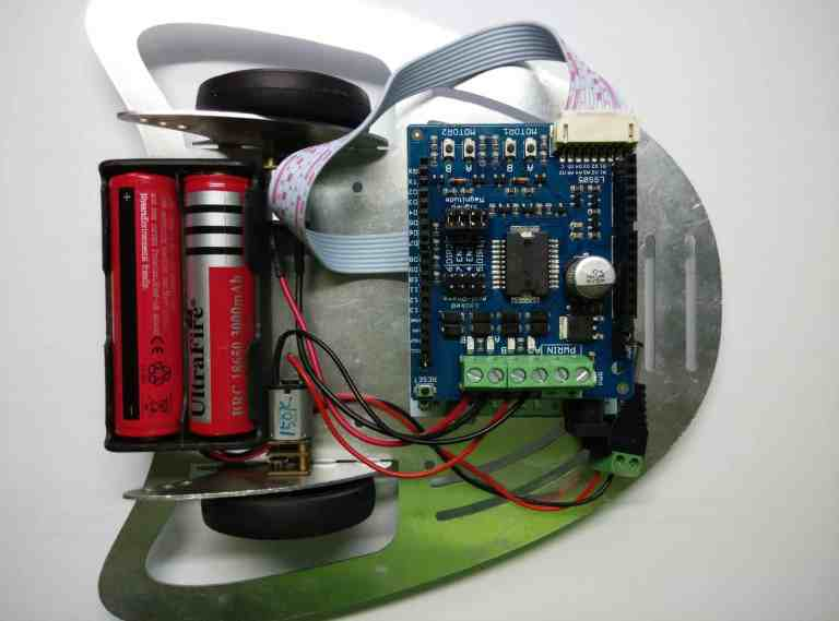 Arduino Edubot using 2Amp Motor Driver Shield
