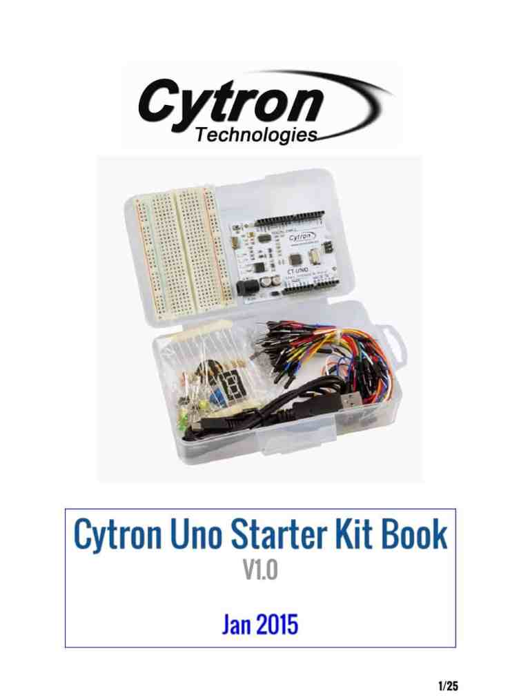Cytron Uno Starter Kit Book