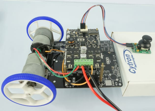 Simple Mobile Robot - Plug and play Joystick + MDDS10
