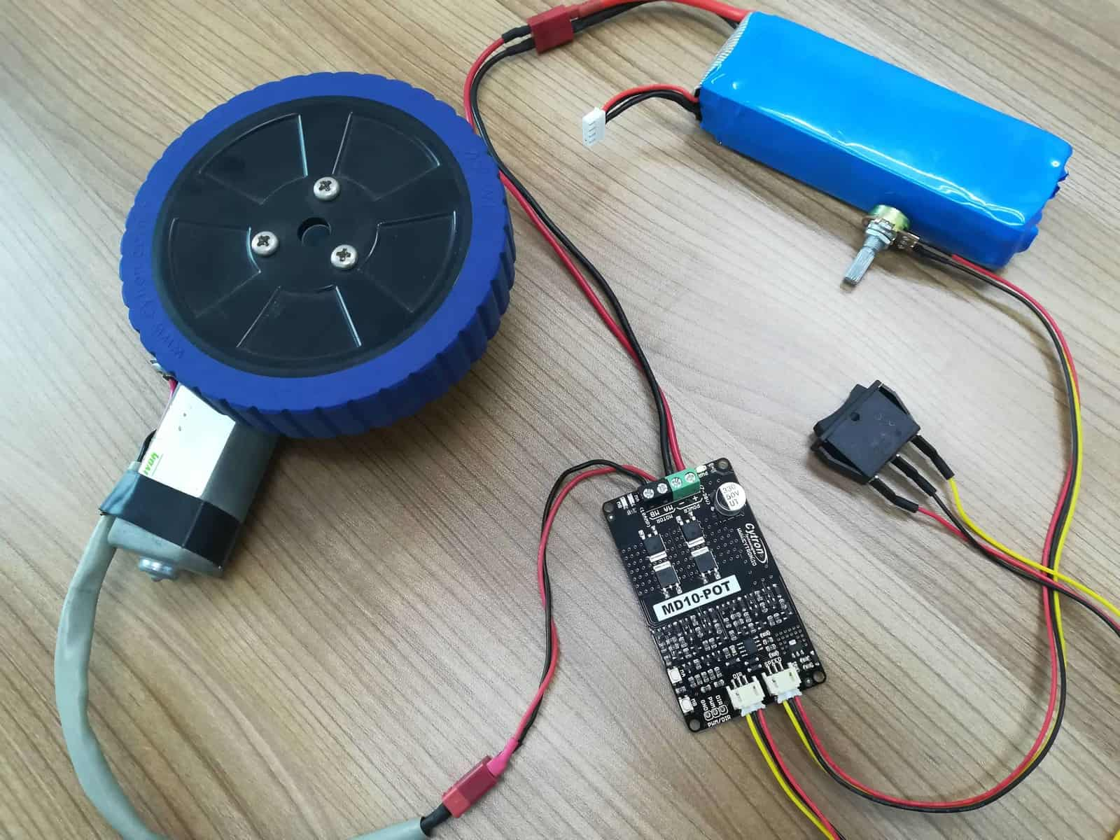 hight resolution of md10 pot controlling dc motor without writing code