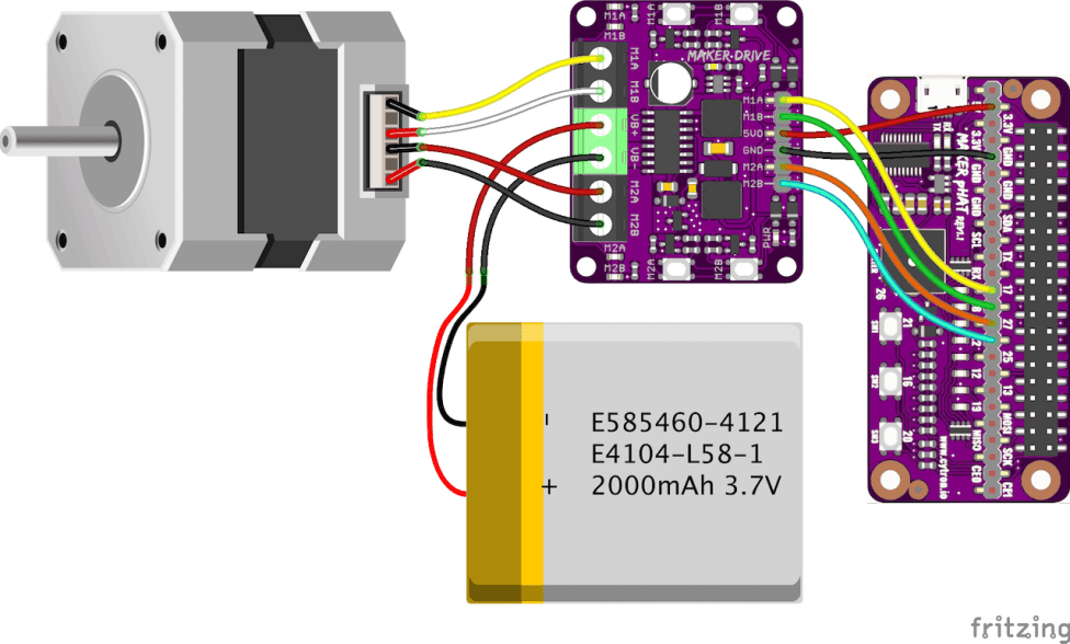 Controlling Stepper Motor Using Maker Drive and Raspberry Pi