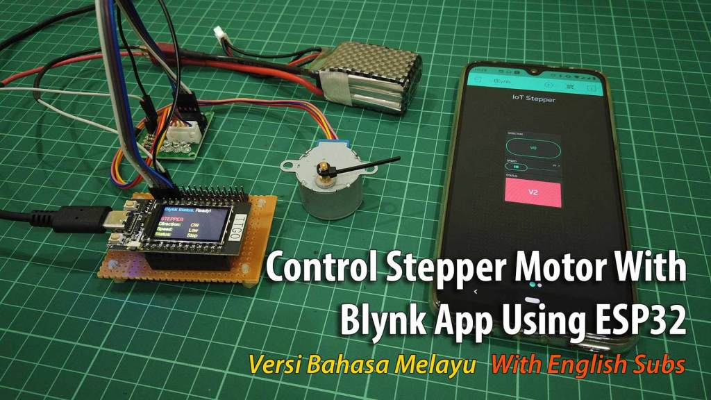 Control Stepper Motor With Blynk App Using ESP32